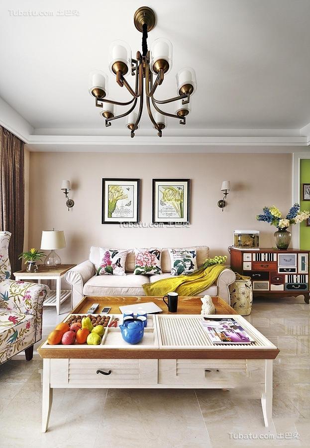 简欧风格复式室内客厅设计效果图