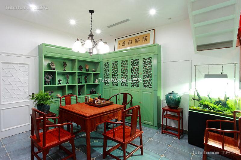 中式清新儒雅茶室布置