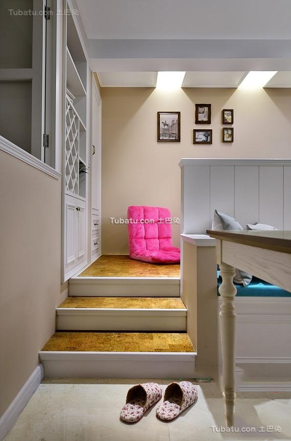 简欧风格复式室内装饰设计效果图