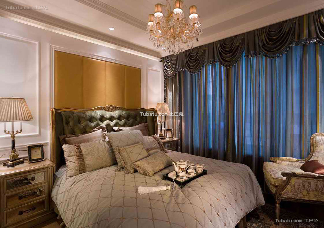 欧式复古卧室布置设计