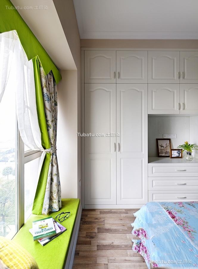 简欧风格复式室内飘窗设计效果图