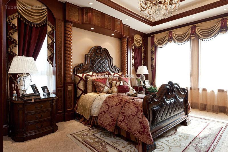 欧式古典豪华卧室布置