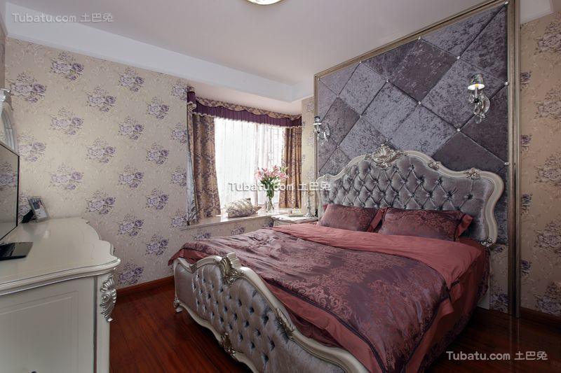 简欧风格室内卧室设计装修效果图