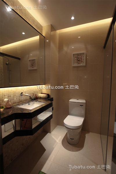 现代时尚设计卫生间装修效果图片