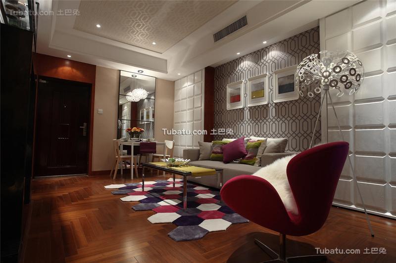 现代时尚设计客厅装修效果图片