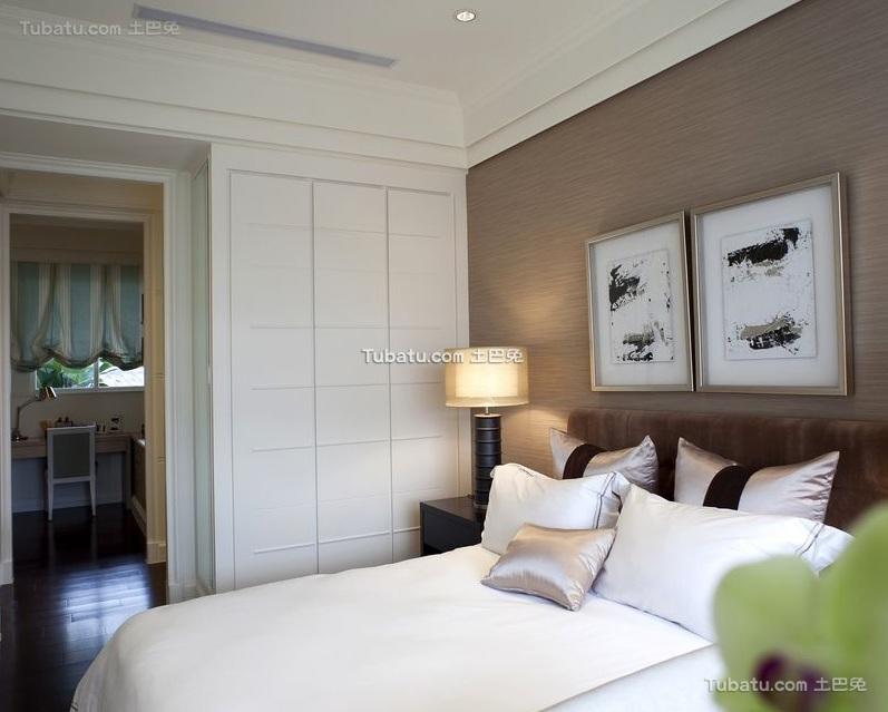 纯白时尚现代卧室设计装修图片