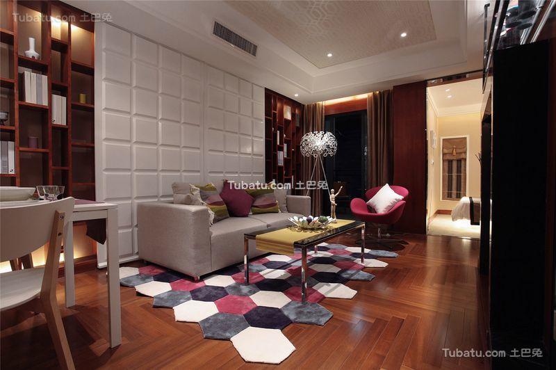 现代时尚设计两居室装修效果图片