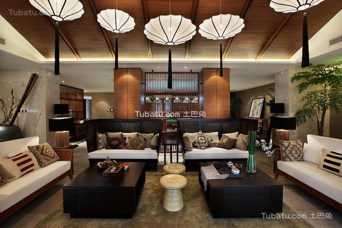 豪华现代设计别墅室内客厅图片