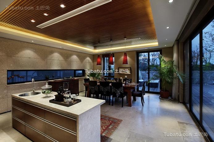豪华现代设计家居餐厅装饰图片