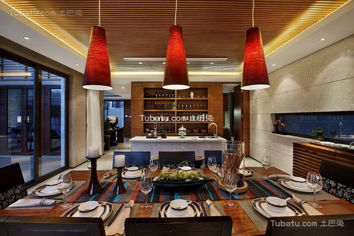 豪华现代设计餐厅室内装饰图片