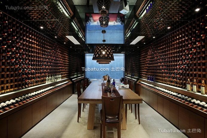 最新现代设计别墅室内酒柜装饰图片