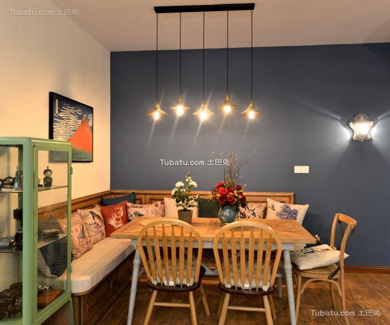 田园美式风格家居餐厅设计效果图片