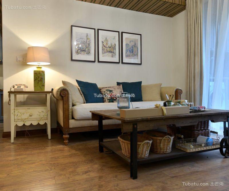 田园美式风格公寓室内设计效果图片
