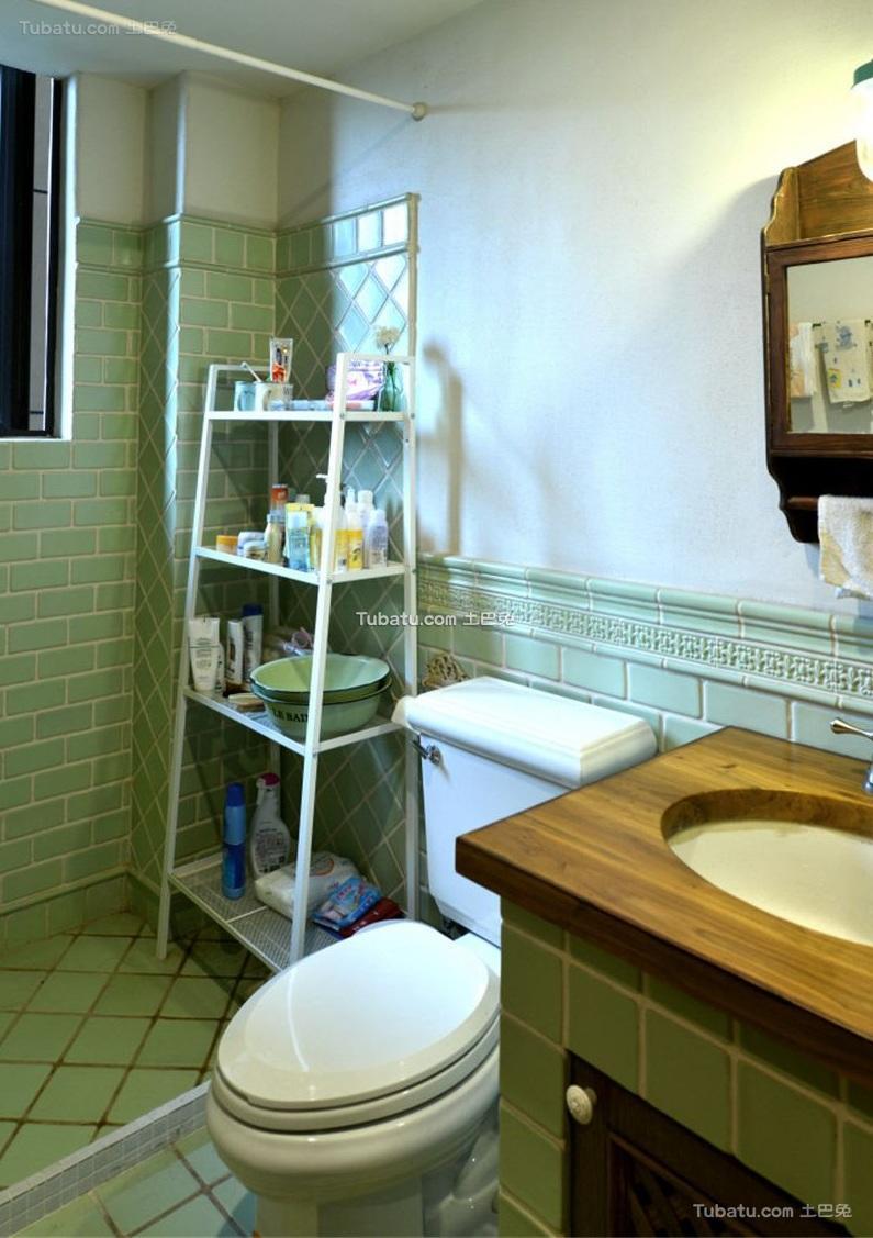 田园美式风格卫生间设计效果图片