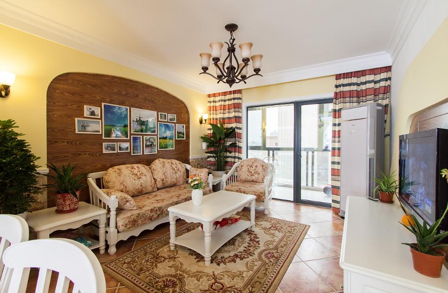 温馨地中海风格三居室设计效果图