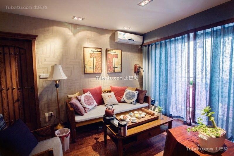 现代家庭三居设计装修效果图片