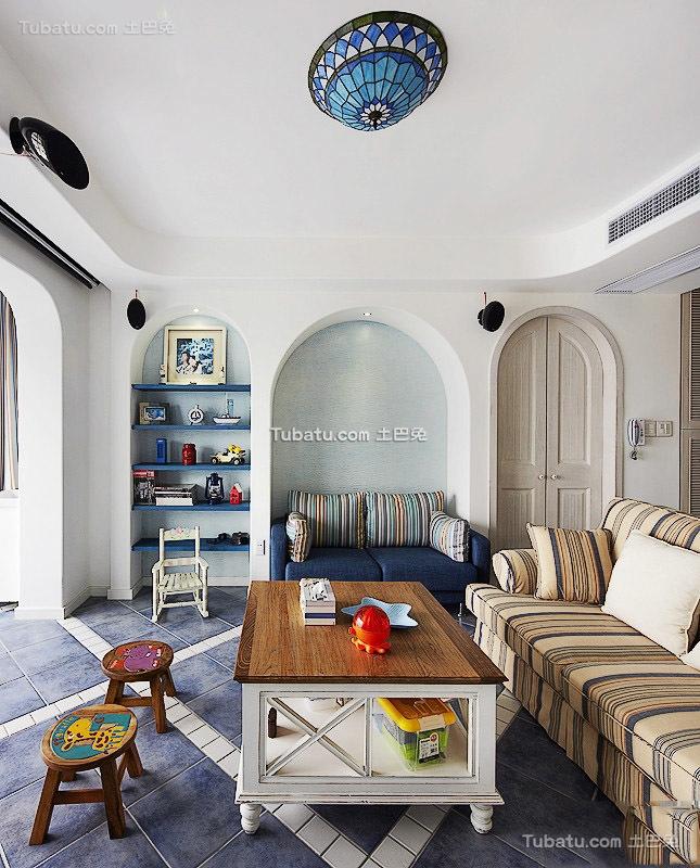 地中海风格四居室设计装修图片欣赏
