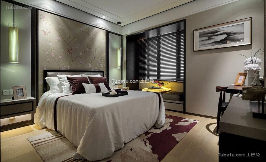 摩登现代中式卧室装潢