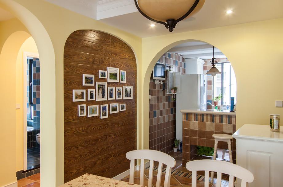时尚温馨地中海风格三居室设计效果图片