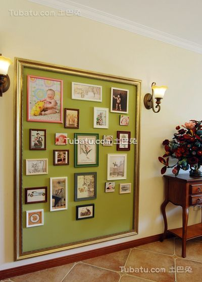 乡村田园风格照片墙设计室内装修图片