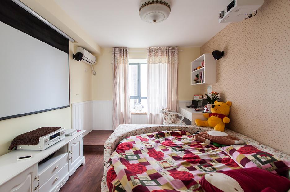 温馨时尚地中海风格三居室设计效果图片