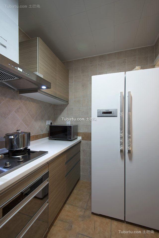 美式小户型设计室内厨房装修图片
