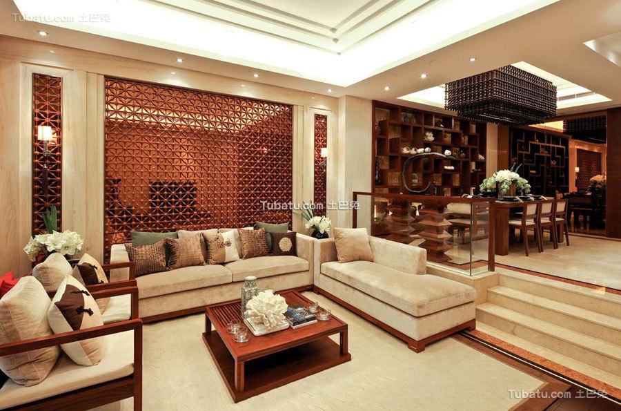 豪华现代中式客厅装潢
