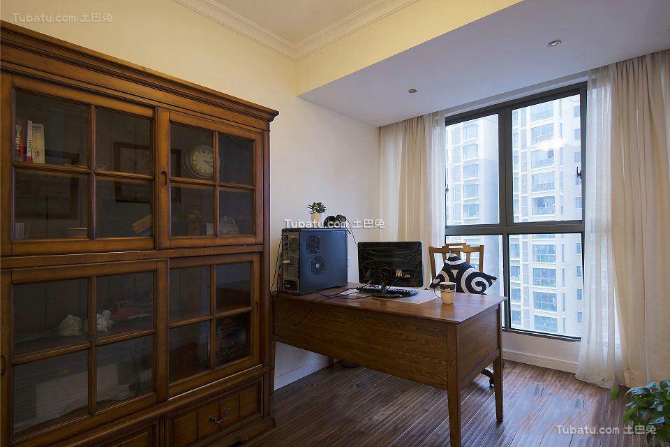 美式小户型设计室内书房装修图片