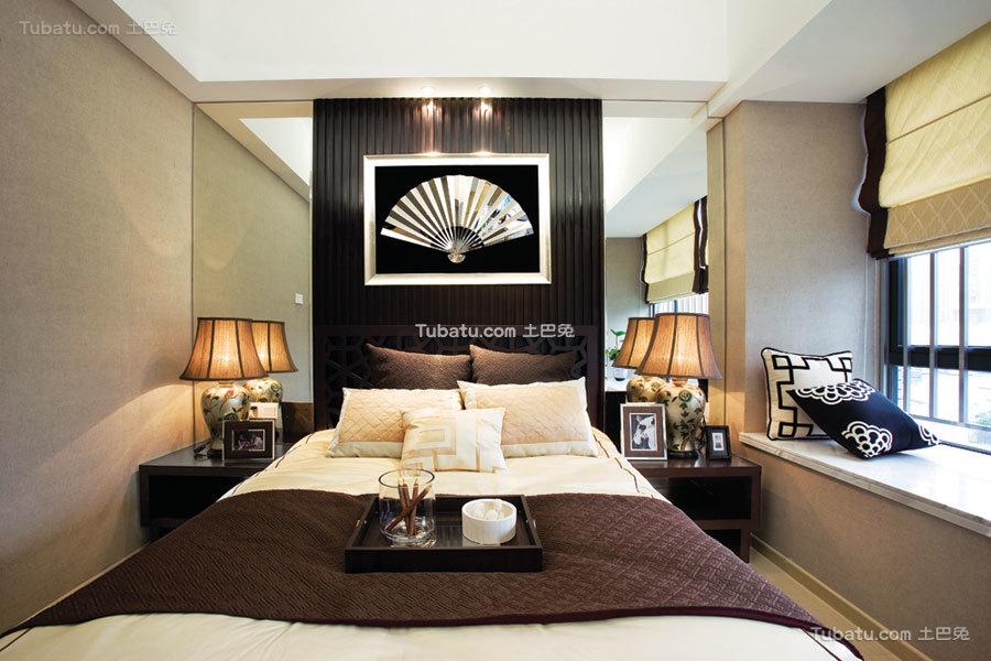 豪华现代中式卧室装饰