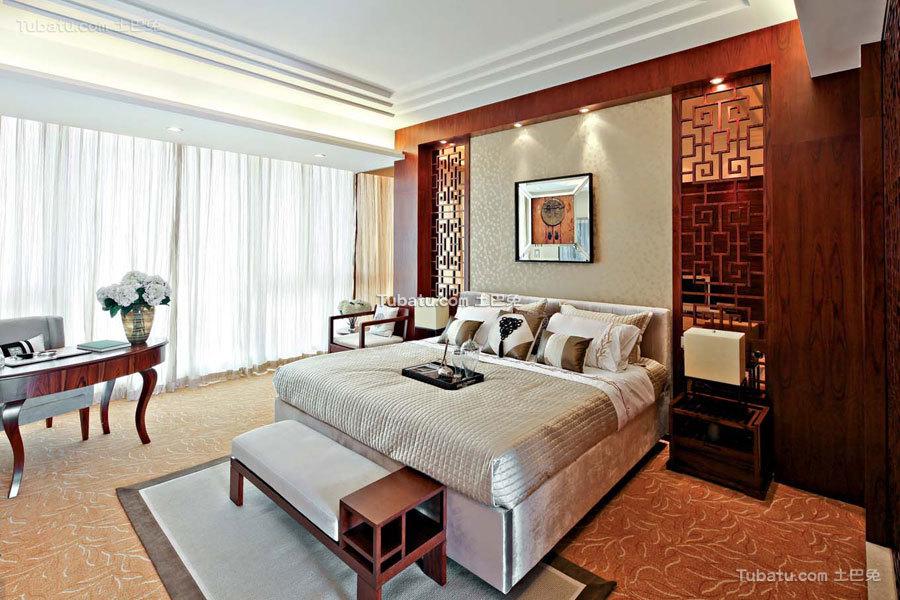 豪华现代中式卧室展示