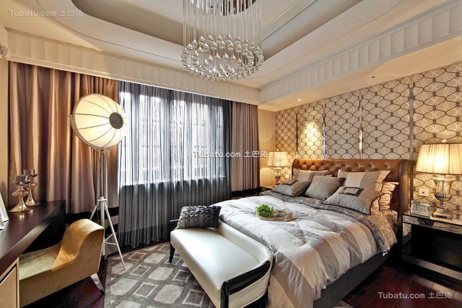 奢华混搭卧室布置