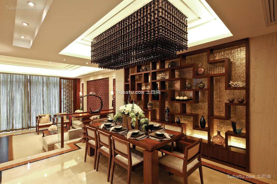 豪华现代中式餐厅