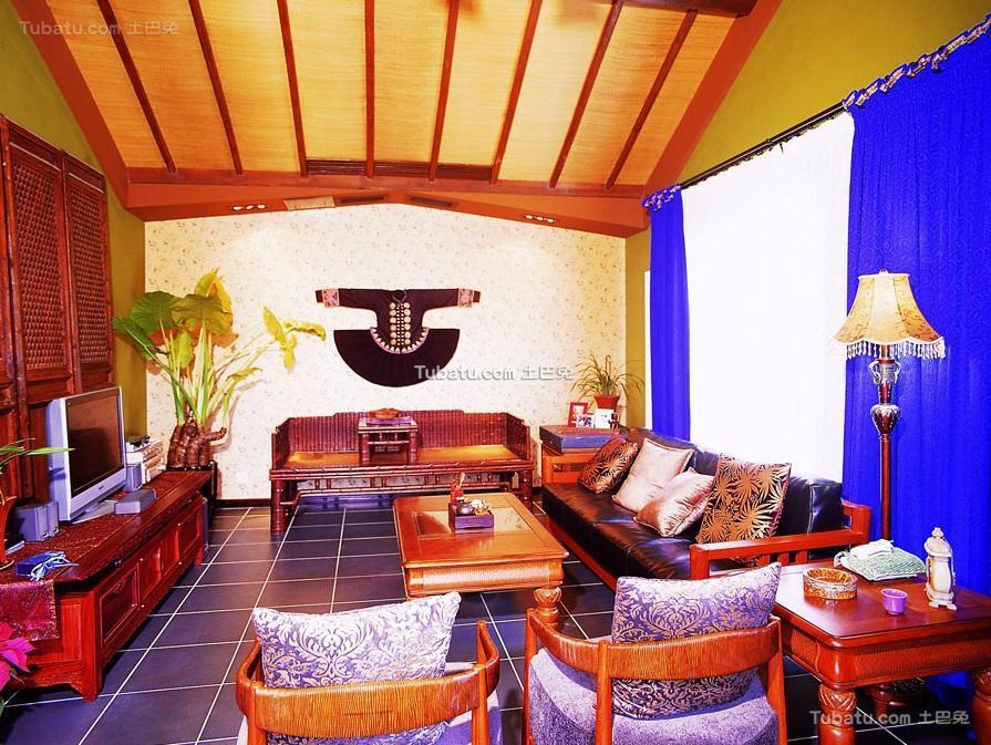东南亚风格设计家居别墅效果图
