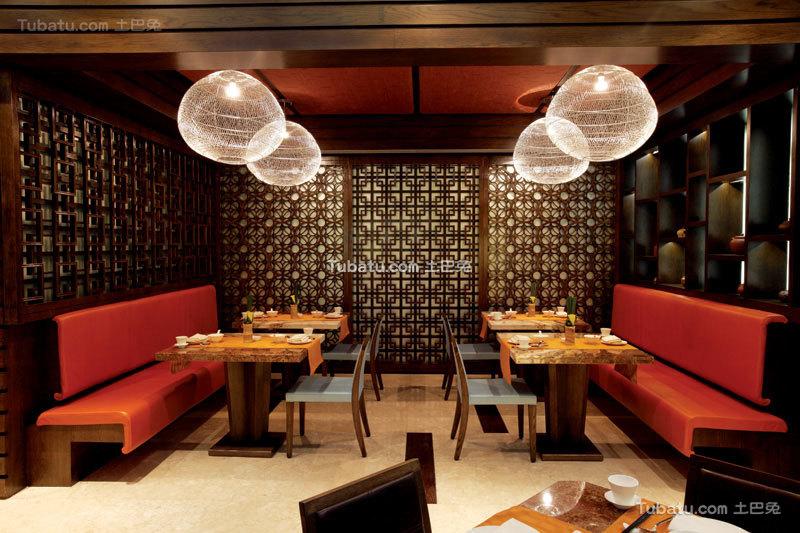 中式餐厅时尚吊顶装修图片