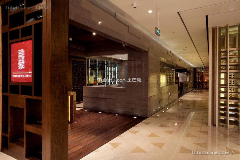 中式餐厅时尚过道图片