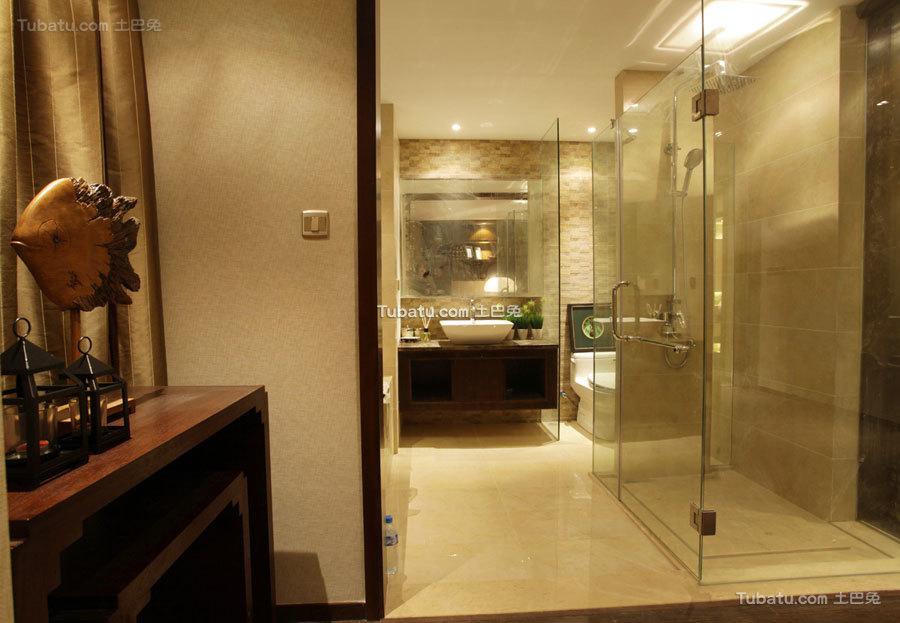 现代设计装修家居卫生间效果图片