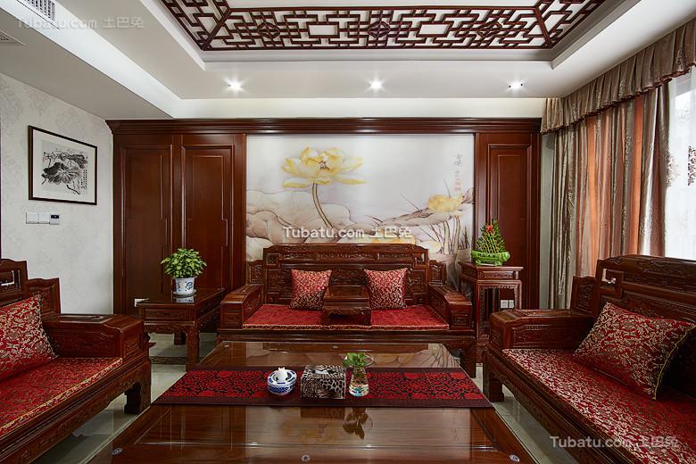 古典新中式客厅装饰装潢