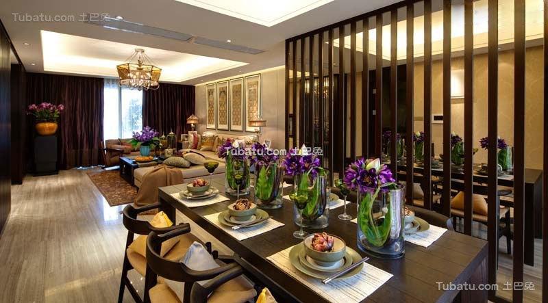 中式现代餐厅设计装修效果图片
