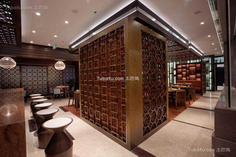 中式餐厅隔断设计装修图片