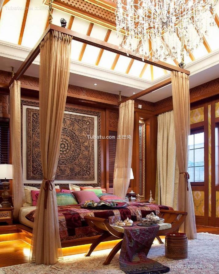 东南亚风格设计别墅卧室效果图片欣赏