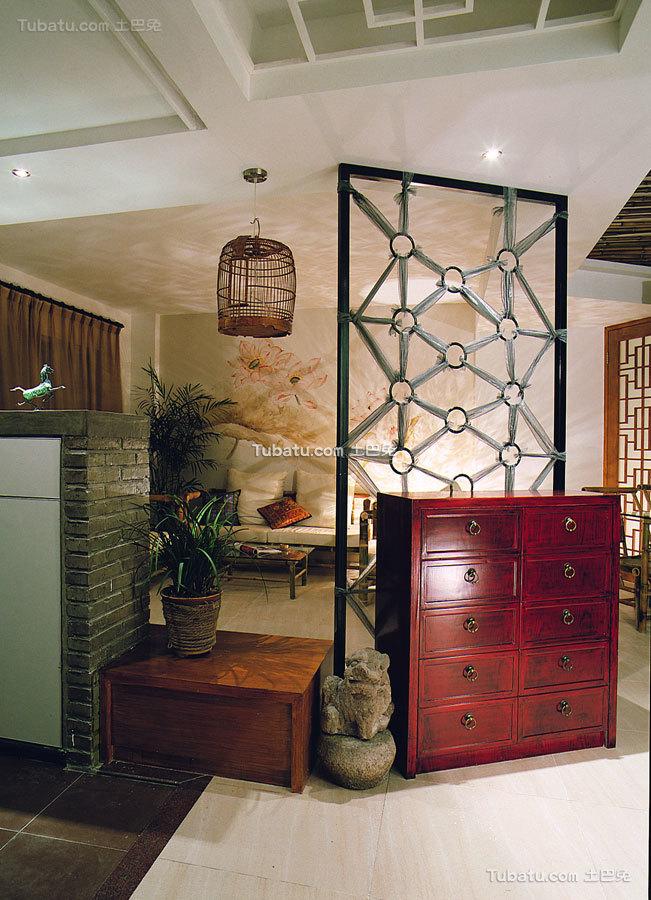 新中式红木隔断设计