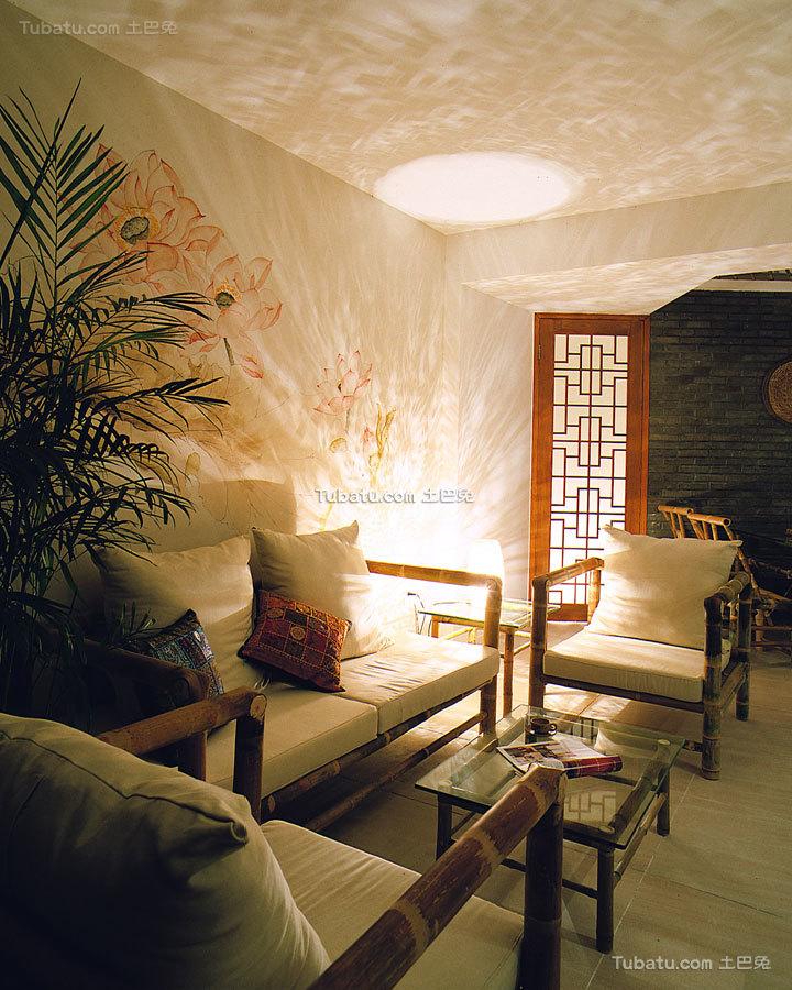 昏黄中式格调客厅装饰