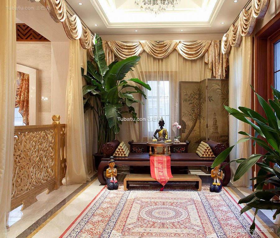 东南亚风格设计别墅装修室内效果图片