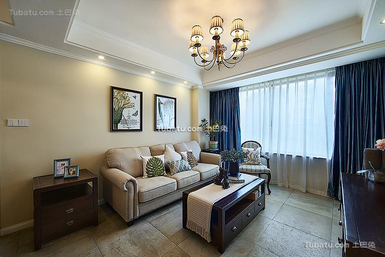美式客厅效果图案例