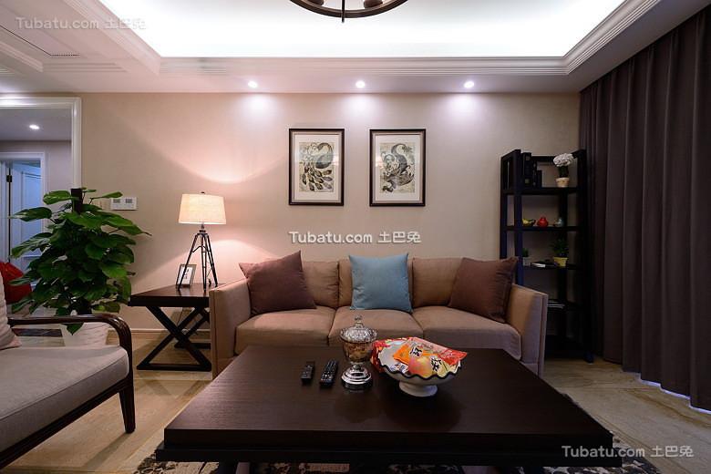 质朴美式客厅装饰效果图