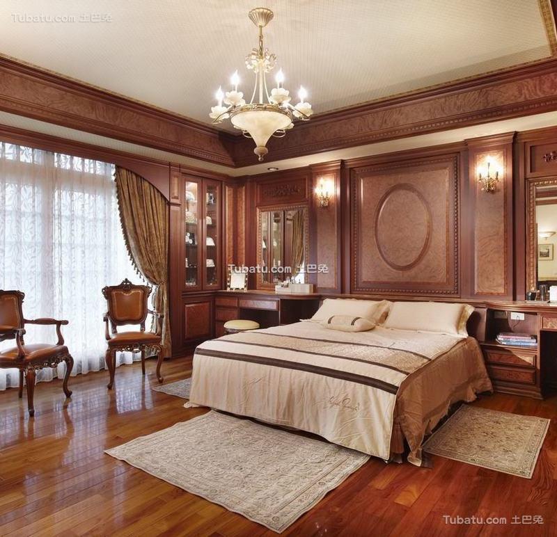 古典欧式别墅室内家居卧室效果图片欣赏