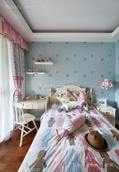 粉蓝可爱美式儿童房