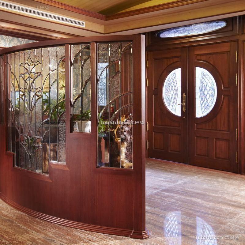古典欧式别墅室内隔断效果图片