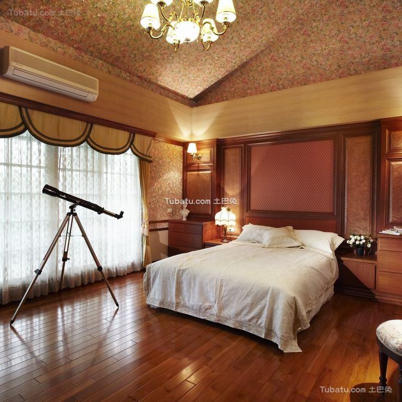 古典欧式别墅室内家居卧室效果图片