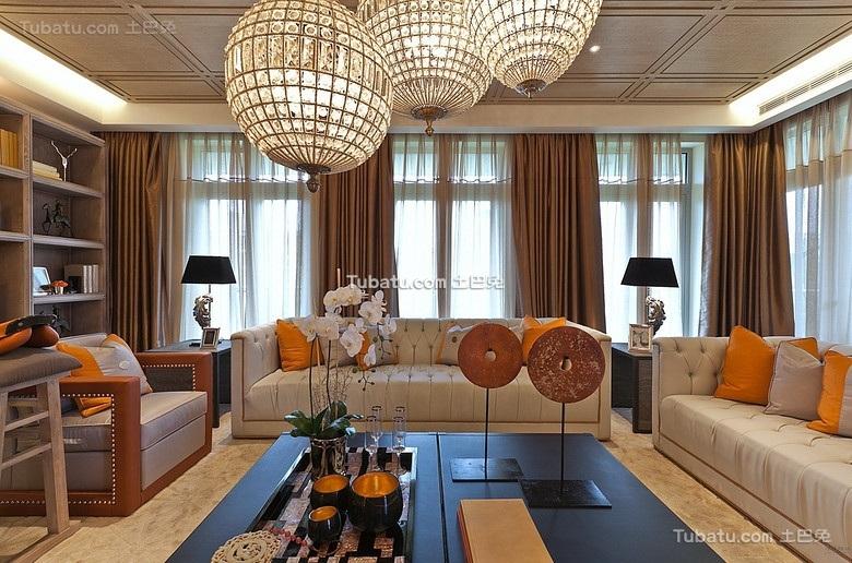 现代中式客厅装饰布置